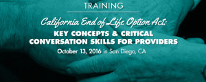 California End of Life Option Act training